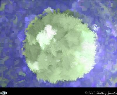 Digital Art - Moonlite Blue by Holley Jacobs