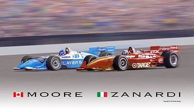 Moore And Zanardi Art Print by Ed Dooley