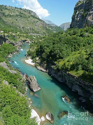 Photograph - Moraca River  - Montenegro by Phil Banks