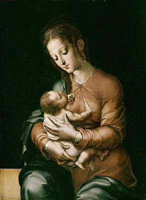 Child Jesus Photograph - Morales, Lu�s De 1515-1586. The Virgin by Everett