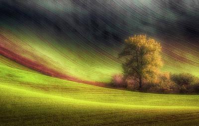 Autumn Hills Photograph - Moravian Fields by Piotr Krol (bax)