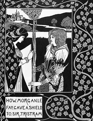 Turn Of The Century Drawing - Morgan Le Fay by Granger