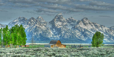Photograph - Mormon Row Barn by David Armstrong