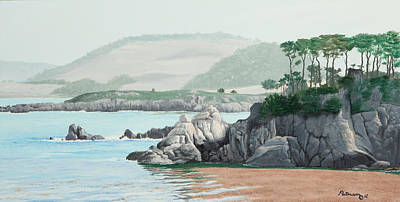 Painting - Morning At Point Lobos by Michael Putnam