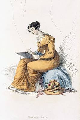 Lace Drawing - Morning Dress, Fashion Plate by English School