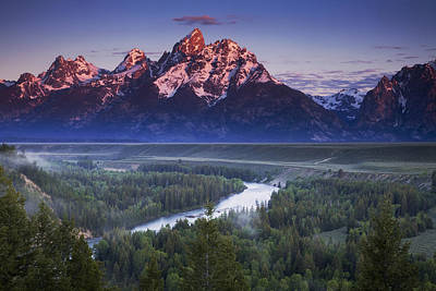 Teton Photograph - Morning Glow by Andrew Soundarajan