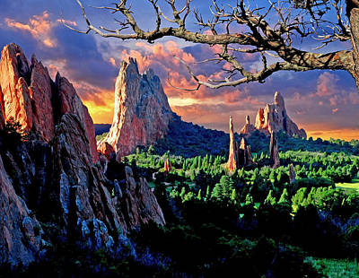 Megalith Photograph - Morning Light At The Garden Of The Gods by John Hoffman