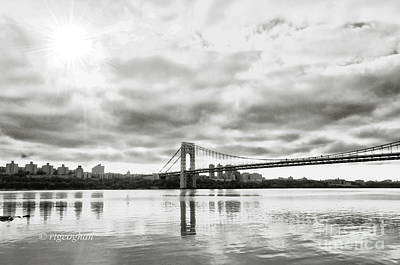 Politicians Royalty-Free and Rights-Managed Images - Morning Light-George Washington Bridge by Regina Geoghan