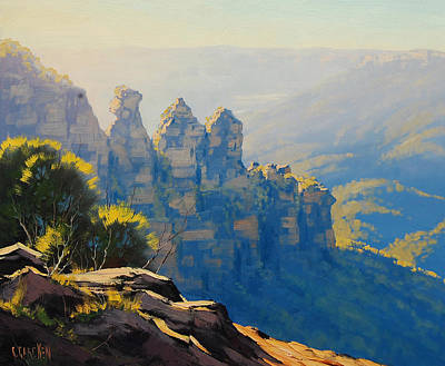 Sisters Painting - Morning Light Three Sisters by Graham Gercken