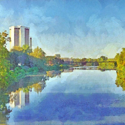 Digital Art - Morning On The First Day Of Classes. Towers On The Olentangy. The Ohio State University by Digital Photographic Arts