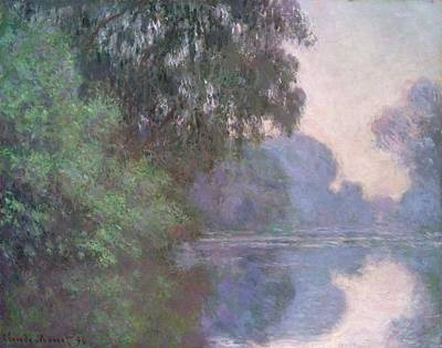Boston Painting - Morning On The Seine by Claude Monet