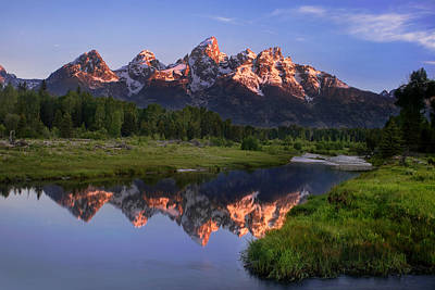 Spring Scenery Photograph - Morning Reflections by Andrew Soundarajan