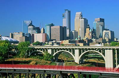 Morning View Of Minneapolis, Mn Skyline Art Print