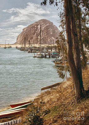 Photograph - Morro Rock Reflection by Sharon Foster