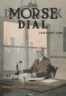 Desk Painting - Morse Dry Dock Dial by Edward Hopper