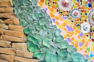 Mosaic Texture  Art Print by Niphon Chanthana