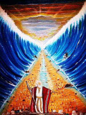Liberation Painting - Moses. by Roejae Baptiste