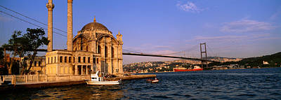 Bosphorus Photograph - Mosque At The Waterfront Near A Bridge by Panoramic Images