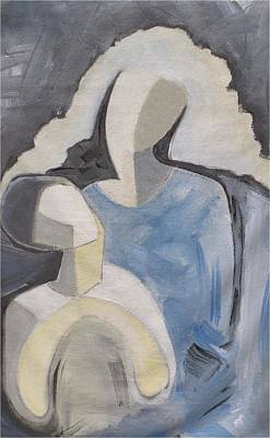 Painting - Mother And Child 8 by Mimo Krouzian