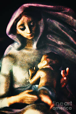 Incarnation Digital Art - Mother And Child by Davy Cheng