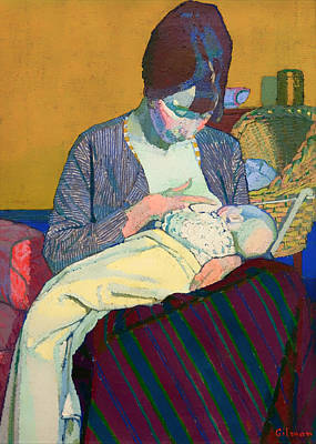 Bassinet Painting - Mother And Child by Mountain Dreams