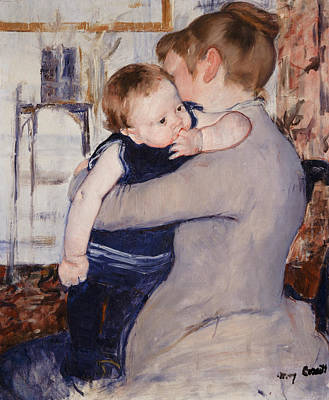 Toddler Portrait Painting - Mother And Child by Mary Stevenson Cassatt