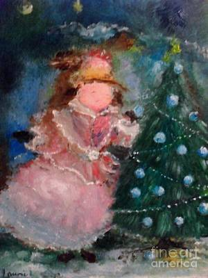Mother Christmas Art Print by Laurie L