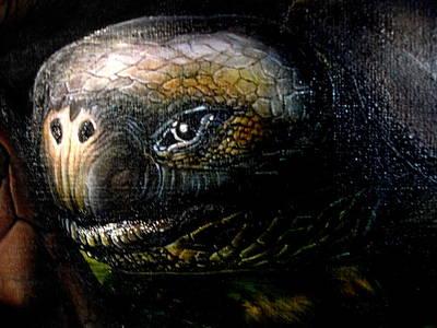 Moshe Painting - Mother  Nature  -  Detail by Moshe Rosental