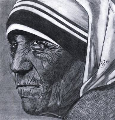 Pakistan Drawing - Mother Teresa by Bobby Dar