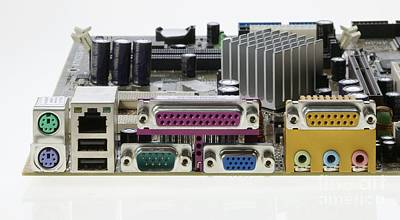 Motherboard Connectors Art Print