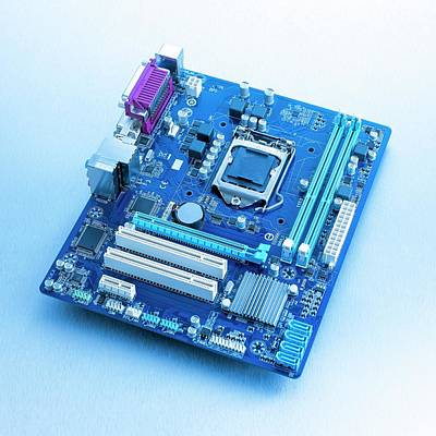 Motherboard Art Print by Science Photo Library