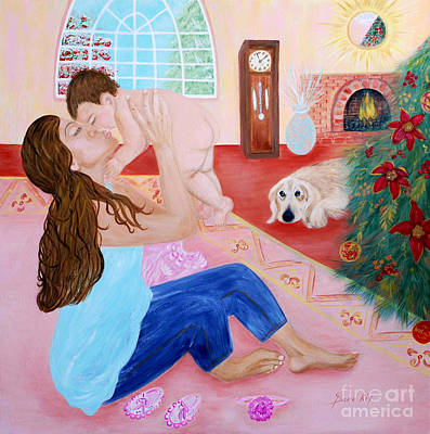 Painting - Motherhood. Inspirations Collection. by Oksana Semenchenko
