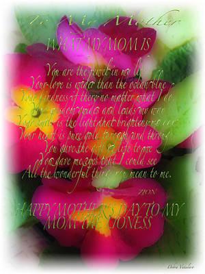 Mothers Day Poem Art Print by Debra     Vatalaro
