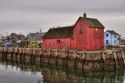 Boats Photograph - Motif No 1 -  Red Fish Shack by Joann Vitali