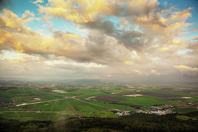 Mount Carmel With Glowing Clouds Art Print by Reynold Mainse