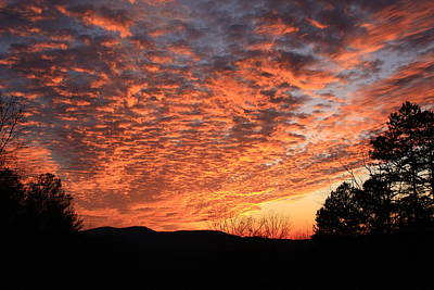 Art Print featuring the photograph Mount Cheaha Sunset Alabama by Mountains to the Sea Photo