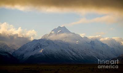 Mount Cook New Zeland Art Print by Tim Hester