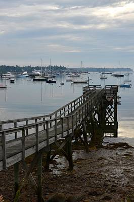 Photograph - Mount Desert Island Southwest Harbor Pier by Toby McGuire