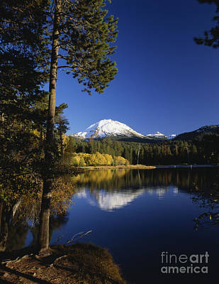 Photograph - Mount Lassen Manzanita Lake Autumn by Jim Corwin