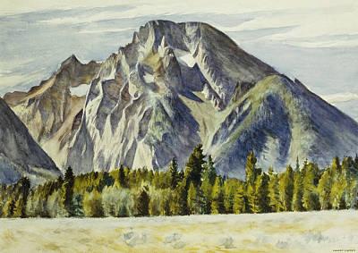 Pine Tree Painting - Mount Moran by Edward Hopper