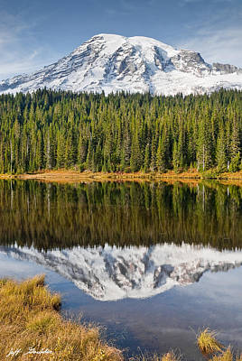 Mount Rainier And Reflection Lakes In The Fall Art Print