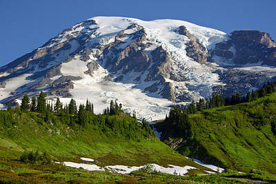 Art Print featuring the photograph Mount Rainier From Paradise by Bob Noble Photography