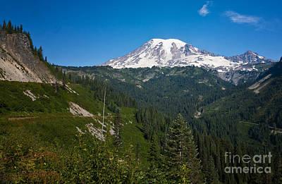 Photograph - Mount Ranier by Ronald Lutz
