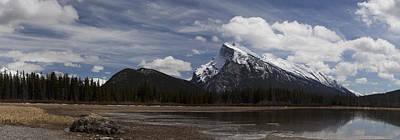 Mount Rundle And Vermilion Lake Art Print