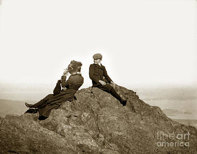 Print featuring the photograph Mount Tamalpais Marin County  Circa 1902 by California Views Mr Pat Hathaway Archives