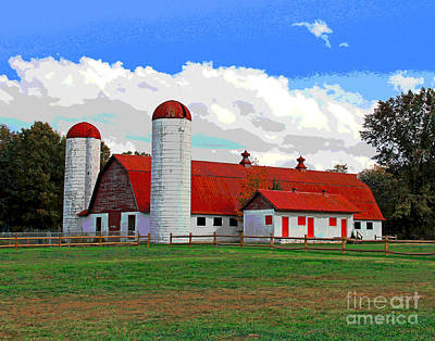 Photograph - Mount Vernon Barn by Larry Oskin