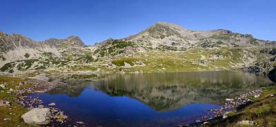 Mountain And Lake Art Print by Ioan Panaite