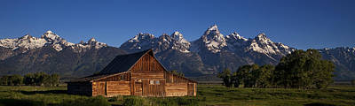 Teton Wall Art - Photograph - Mountain Barn by Andrew Soundarajan