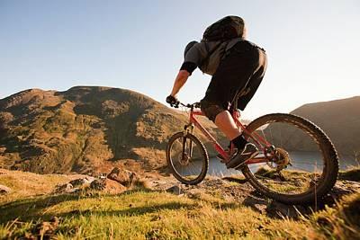 Mountain Bikers Art Print by Ashley Cooper