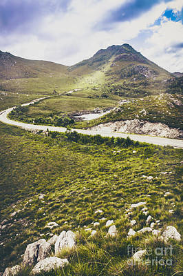Mountain Scene In West Coast Of Tasmania Australia Art Print